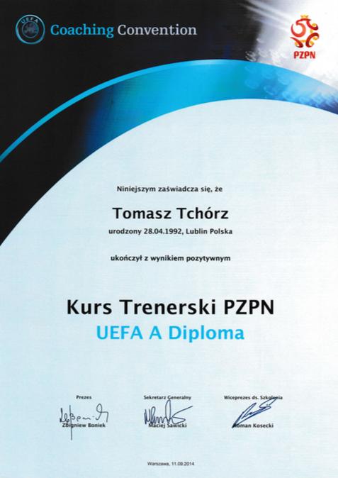 Dyplom UEFA A